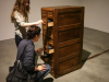 "2Janet Cardiff and George Bures Miller, Cabinet of Curiosities, 2010. ""a sound sculpture by Janet Cardiff and George Bures Miller.,""Cabinet of Curiosities,"" Uploaded by buresmiller on Apr 10, 2010."